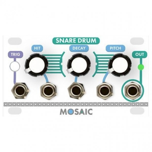 Mosaic 1U Snare Drum Module, White