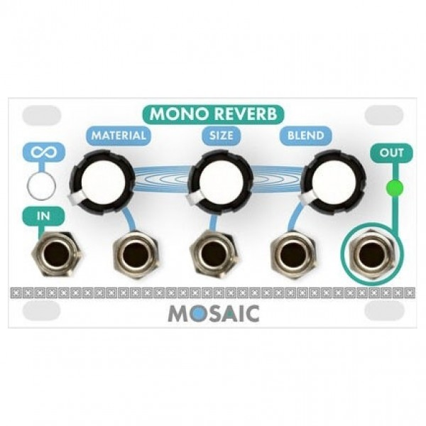 Mosaic 1U Mono Reverb Module, White