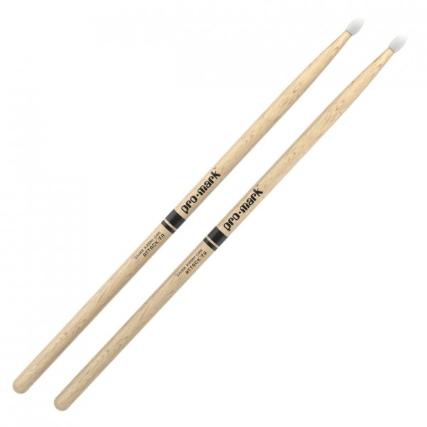 Promark Classic Attack 7A Shira Kashi Oak Drumsticks, Nylon Tip