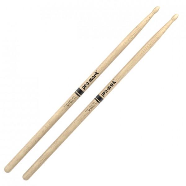 Promark Classic Attack 7A Shira Kashi Oak Drumsticks, Wood Tip