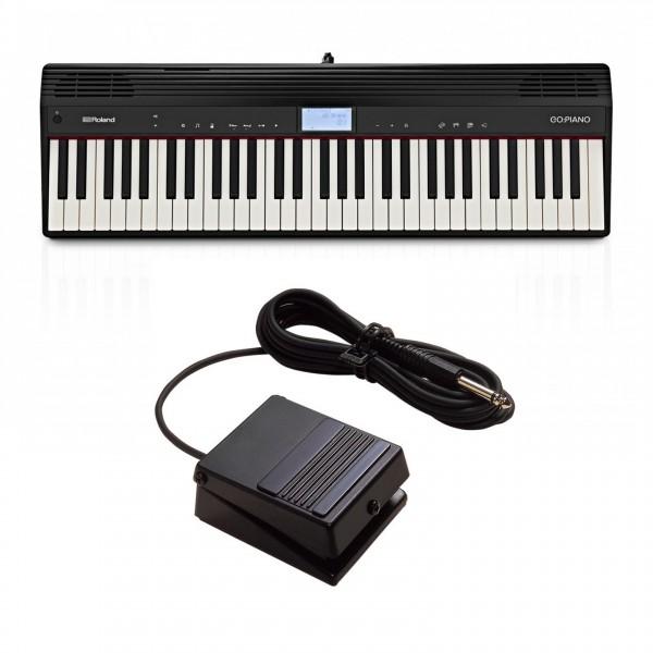 Roland Go:Piano 61 Key Digital Piano with DP-2 Damper Pedal
