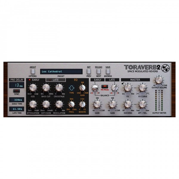 D16 Group Toraverb 2 Space Modulated Reverb, Digital Delivery