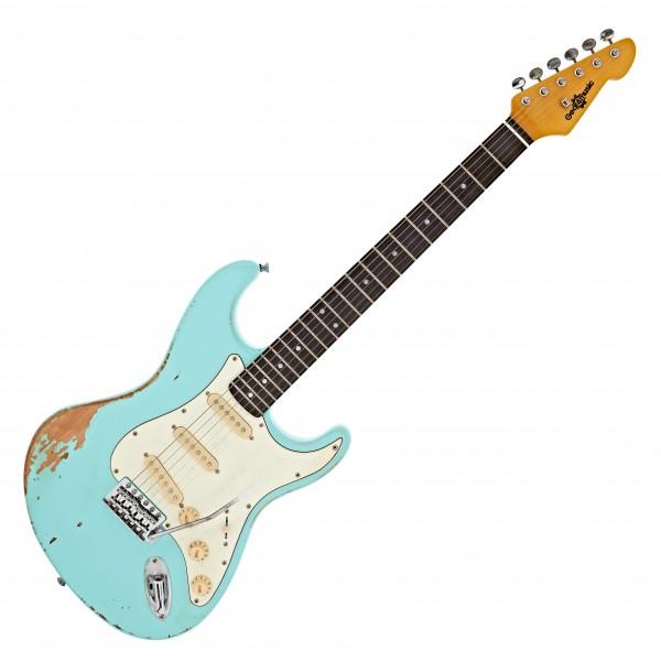 LA Legacy Guitar by Gear4music, Lagoon Blue