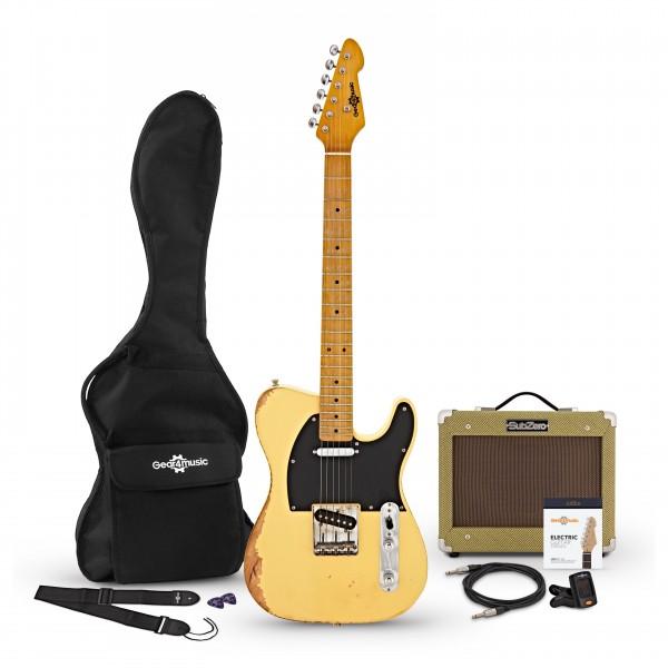 Knoxville Select Legacy Guitar + Tweed Amp Pack, Vintage Blonde