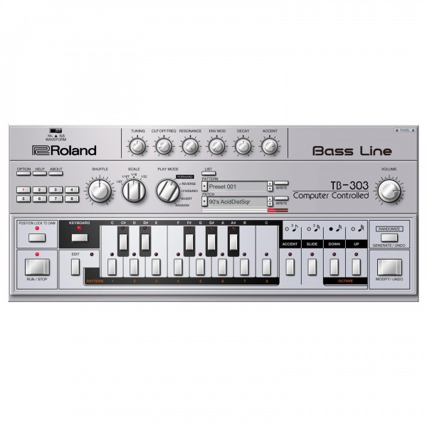 Roland Cloud TB-303 Virtual Instrument - Lifetime Key - GUI (Graphical User Interface)