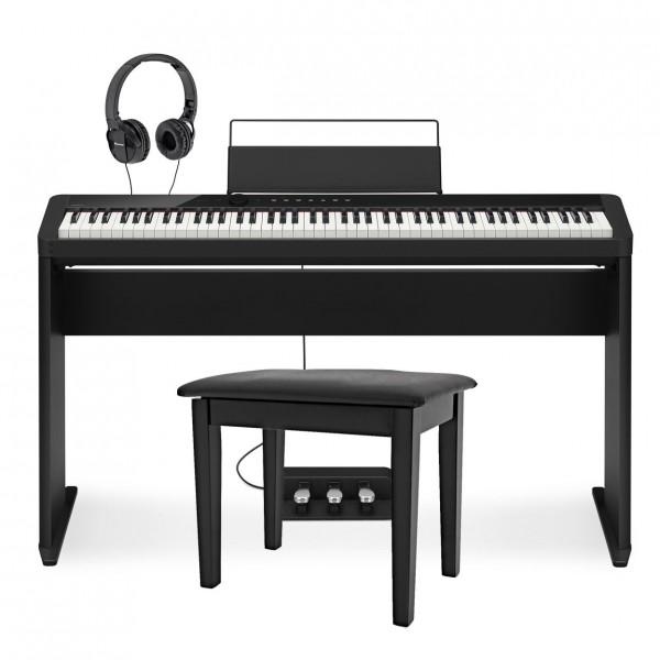 Casio PX S1000 Digital Piano Wood Frame Pioneer Package, Black