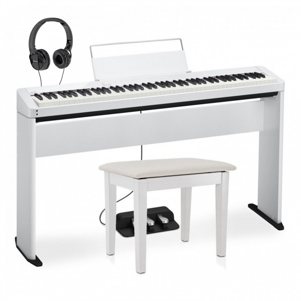 Casio PX S1000 Digital Piano Wood Frame Pioneer Package, White