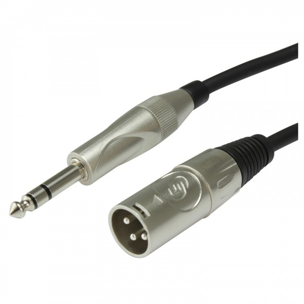 Custom Lynx High Quality Male XLR to Stereo Jack Mixing Cable, 1m - Connectors