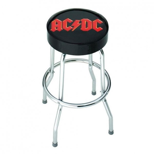 Rocksax AC/DC Logo Bar Stool - Front View