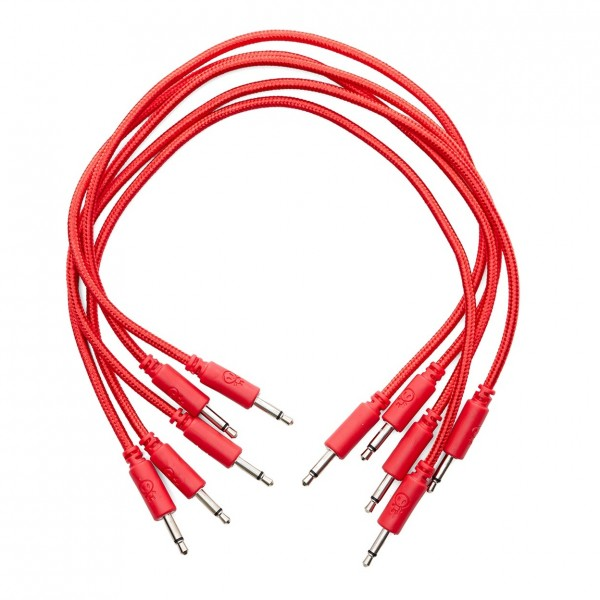 Erica Synths Eurorack Braided Patch Cables 30cm 5 pieces Red - Main
