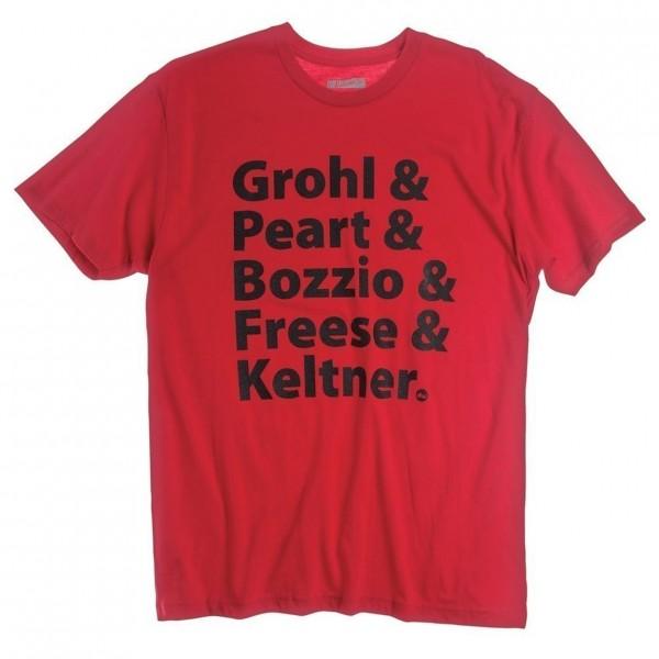 DW Artists T-shirt Red, Size XXL