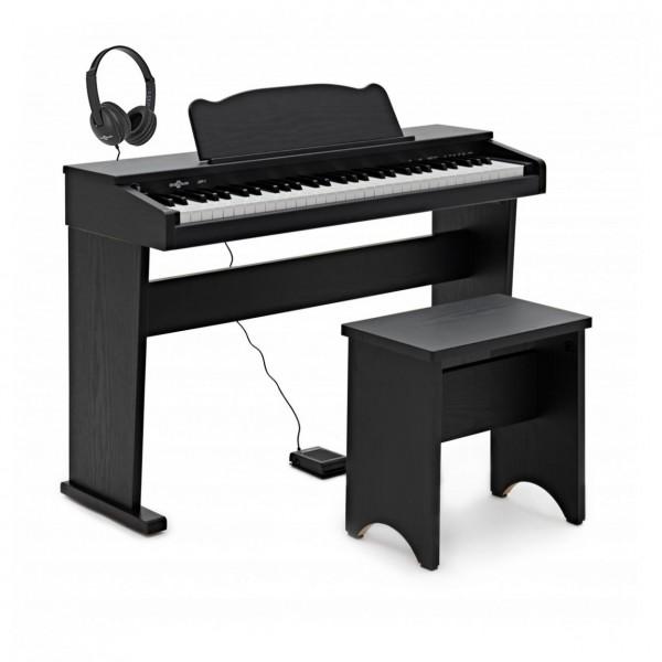 JDP-1 Junior Digital Piano with Headphones, Matte Black
