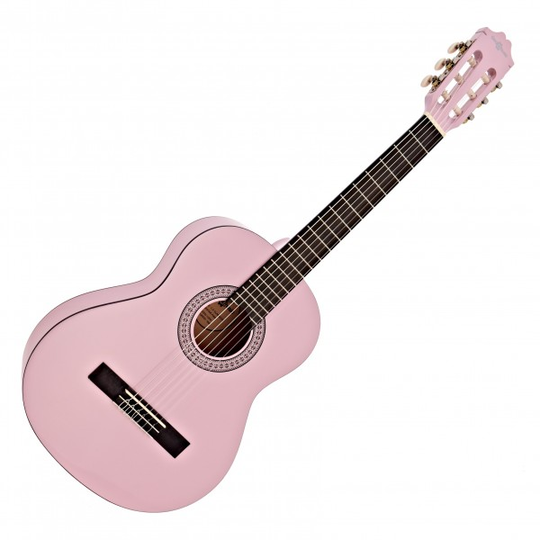 Deluxe Junior 1/2 Classical Guitar, Pink, by Gear4music