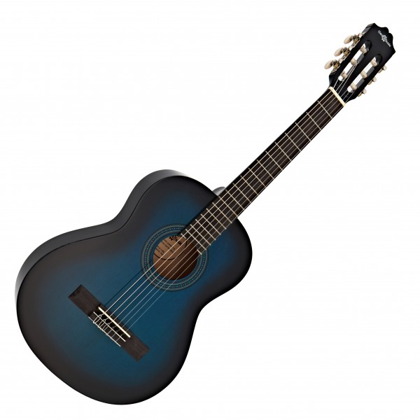 Deluxe Junior 1/2 Classical Guitar, Blue, by Gear4music