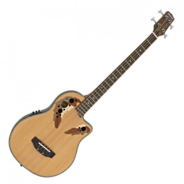 Round Back Electro Acoustic Bass Guitar by Gear4music - Nearly New