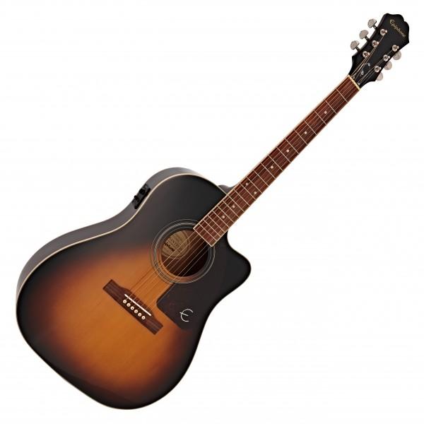 Epiphone AJ-220SCE Electro Acoustic, Vintage Sunburst