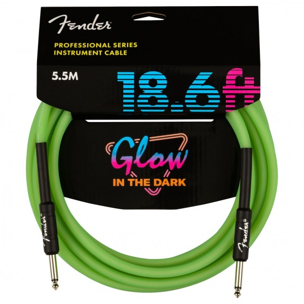 Fender Pro Glow in the Dark Cable 5.5m, Green