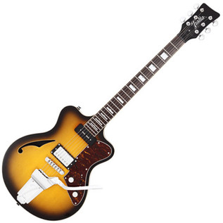 Italia Maranello 63 Semi Acoustic Guitar, Sunburst