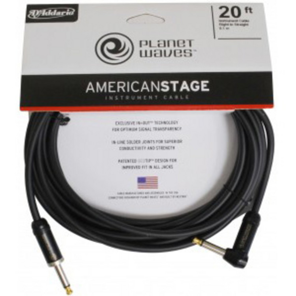 Planet Waves American Stage Instrument Cable R Angled