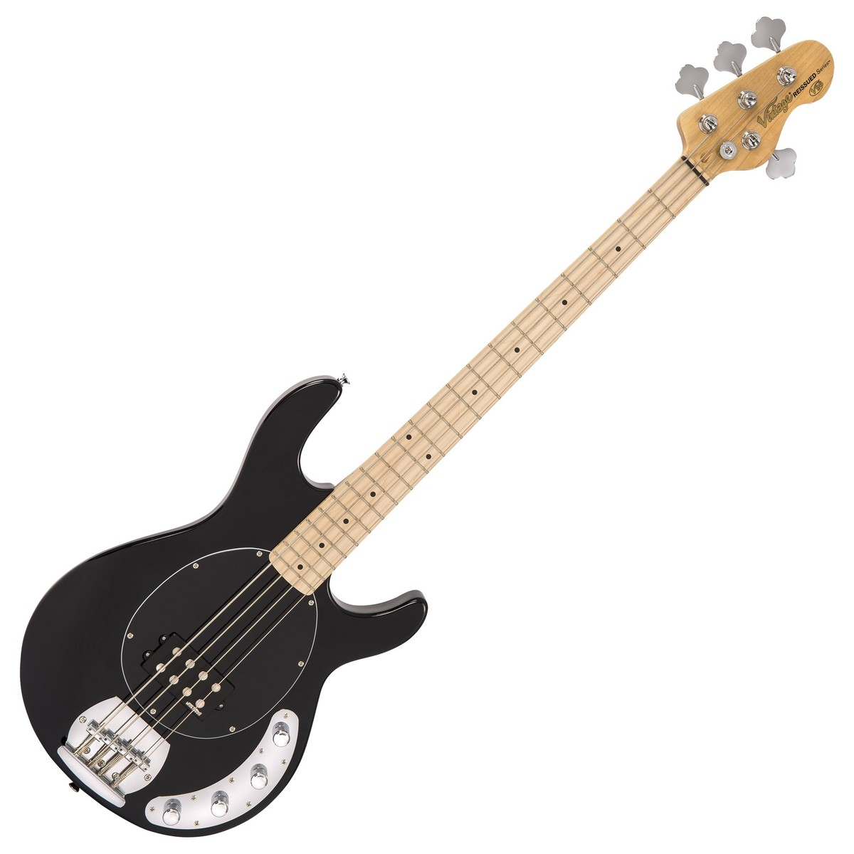 Click to view product details and reviews for Vintage V96 Reissued Active Bass Gloss Black.