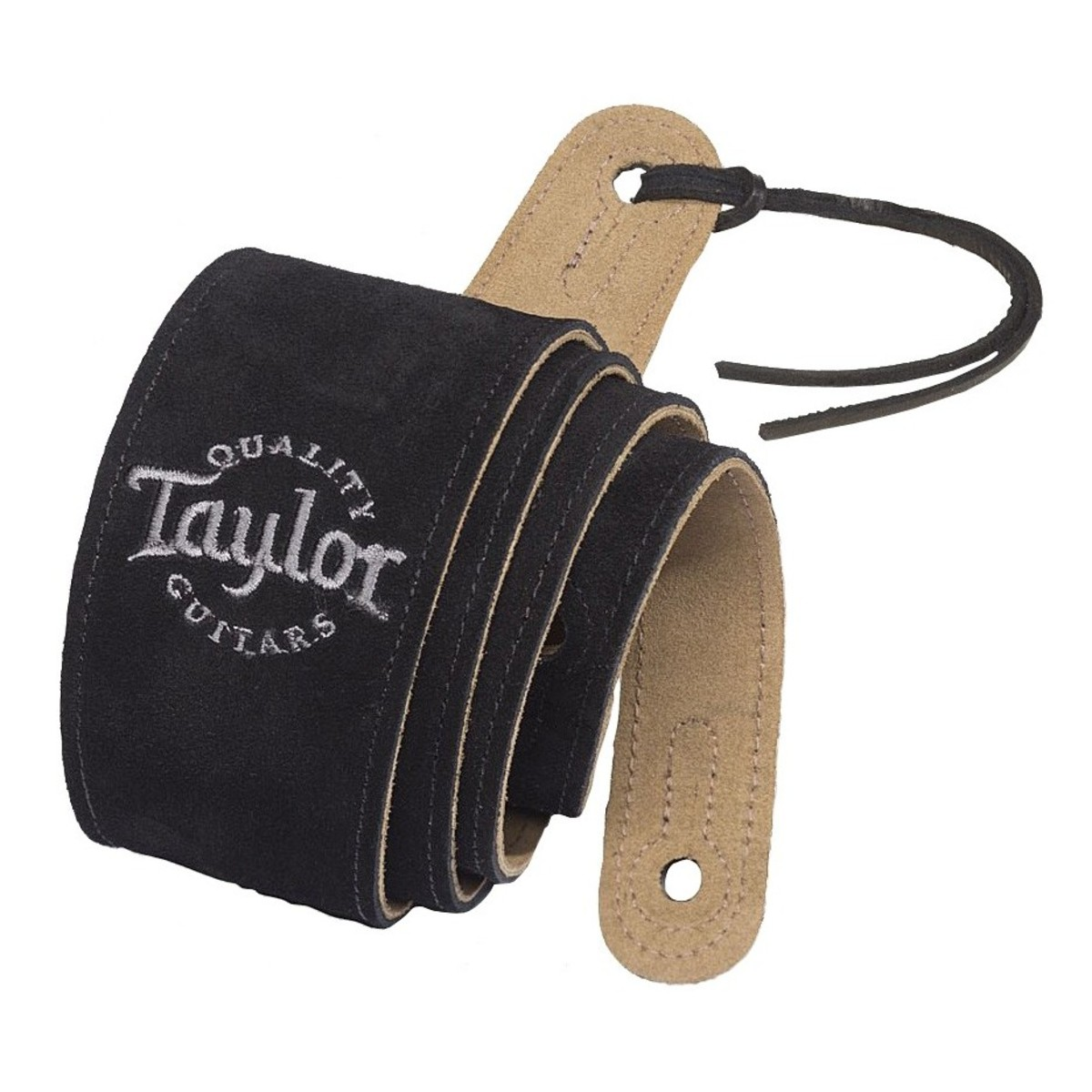 Taylor Logo Suede Guitar Strap Black At Gear4music