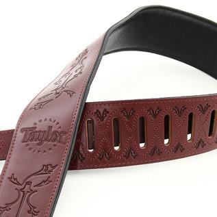 Taylor Byzantine Guitar Strap, Burgundy 2