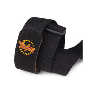 Taylor Web/Suede Guitar Strap, Black with Logo