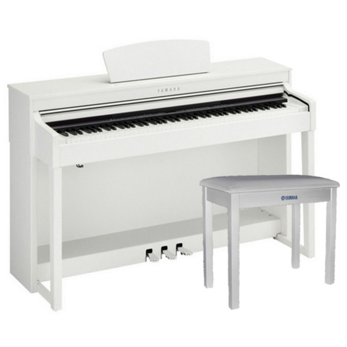 yamaha clavinova clp430 digitalpiano vitt med matchande. Black Bedroom Furniture Sets. Home Design Ideas