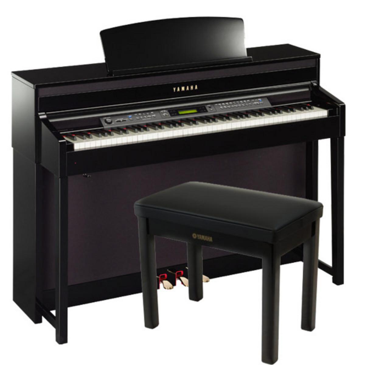 Disque yamaha clavinova clp480 b ne poli comprend banc for Yamaha clavinova cvp 303
