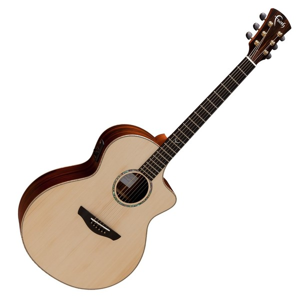 Faith Neptune Baby Jumbo Cutaway Electro Acoustic, Hi Gloss Front View