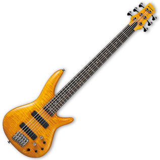 Ibanez GVB1006 Gerald Veasley Signature 6-String Bass Guitar, Amber
