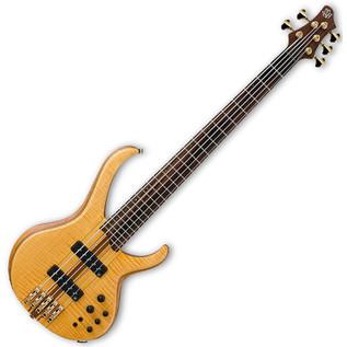 Ibanez BTB1405 Premium 5-String Bass Guitar, Vintage Natural Flat
