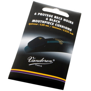 Vandoren Mouthpiece Cushions (Pack 6) Thickness 0.80mm-,032