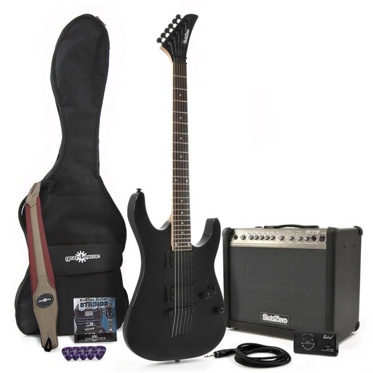 pack guitare lectrique portland 23 subzero noir ampli. Black Bedroom Furniture Sets. Home Design Ideas