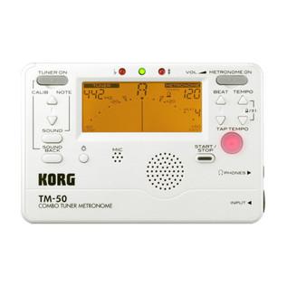 Korg TM-50 Pearl White Tuner/Metronome