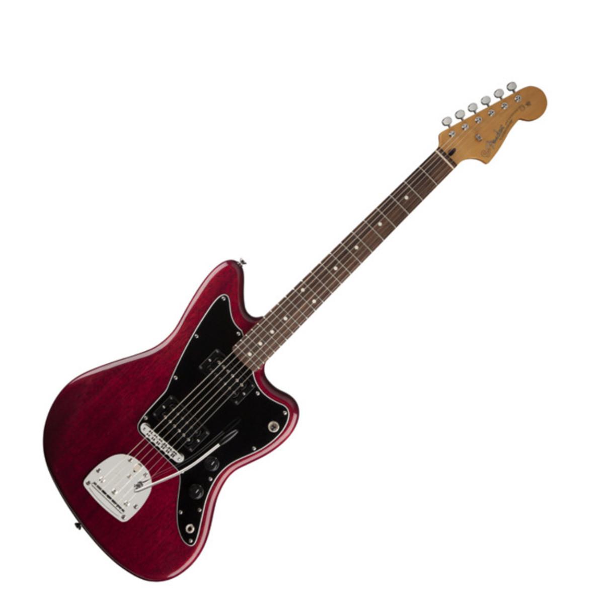 fender modern player jazzmaster hh guitar crimson red transparent at. Black Bedroom Furniture Sets. Home Design Ideas
