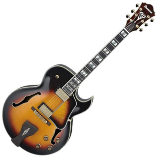 Ibanez LGB30 George Benson Hollow Body Guitar, Vintage Yellow Burst