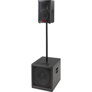 HH Electronics System 3 S3-815 Active Subwoofer + Satellite PA System Setup