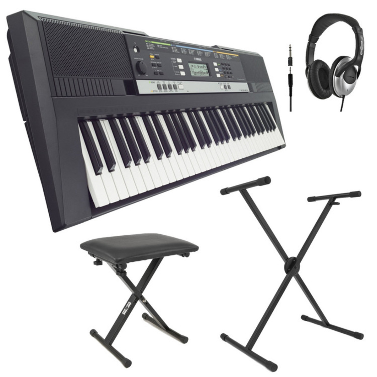 Yamaha Psre  With Headphones Bench And Stand