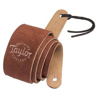 Taylor 'Logo' Suede Guitar Strap, Chocolate