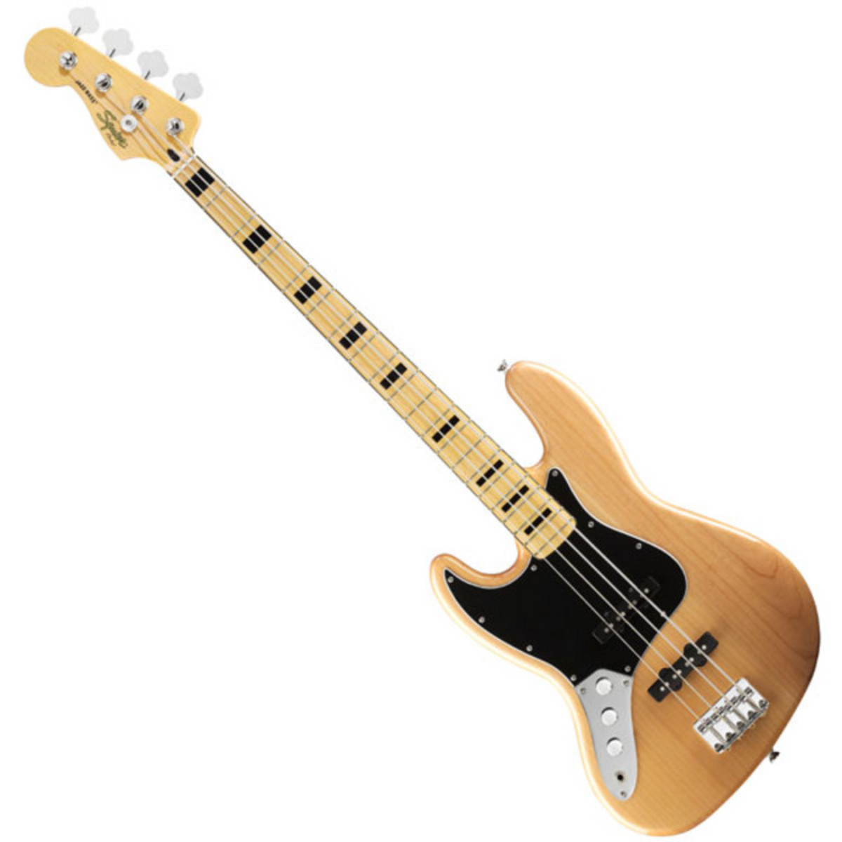 squier by fender vintage modified 70s jazz bass left handed natural at gear4music. Black Bedroom Furniture Sets. Home Design Ideas