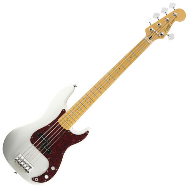 squier by fender vintage modified p bass v 5 string olympic white at gear4music. Black Bedroom Furniture Sets. Home Design Ideas