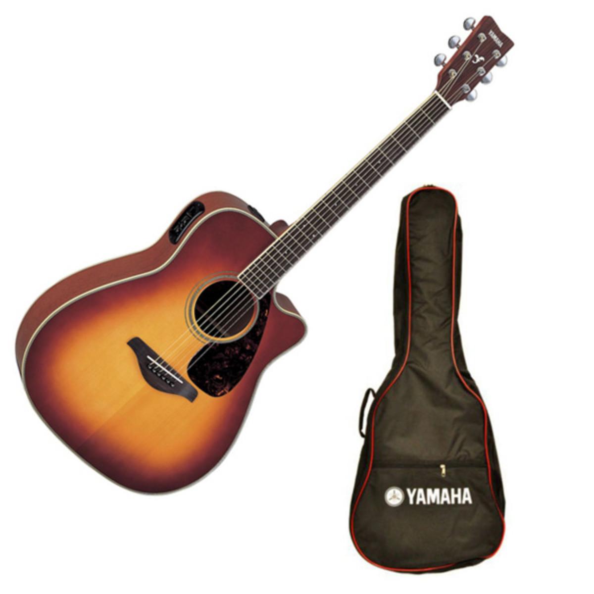 yamaha fgx720sca electro acoustic guitar sunburst with. Black Bedroom Furniture Sets. Home Design Ideas