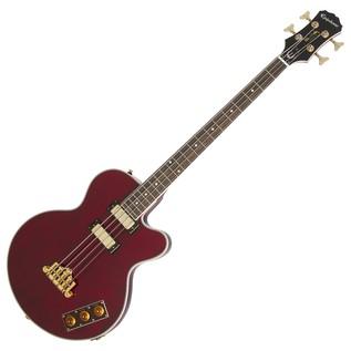 Epiphone Allen Woody Rumblekat Signature Bass Guitar, Wine Red