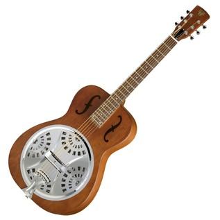 Epiphone Dobro Hound Dog Round Neck Resonator Guitar, Vintage Brown