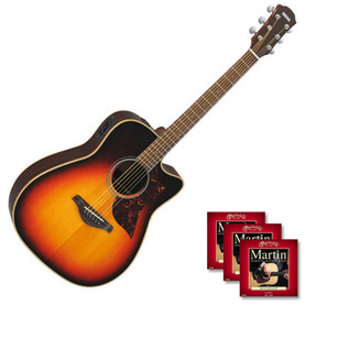 Yamaha A1R Electro-Acoustic Guitar, Sunburst with FREE Strings