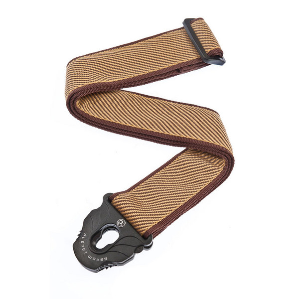planet waves lock guitar strap tweed
