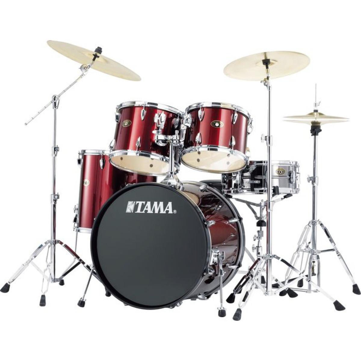 tama imperialstar rock drum kit red ex demo at gear4music. Black Bedroom Furniture Sets. Home Design Ideas