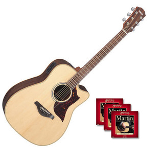 Yamaha A1R Electro Acoustic Guitar, Natural with FREE Strings