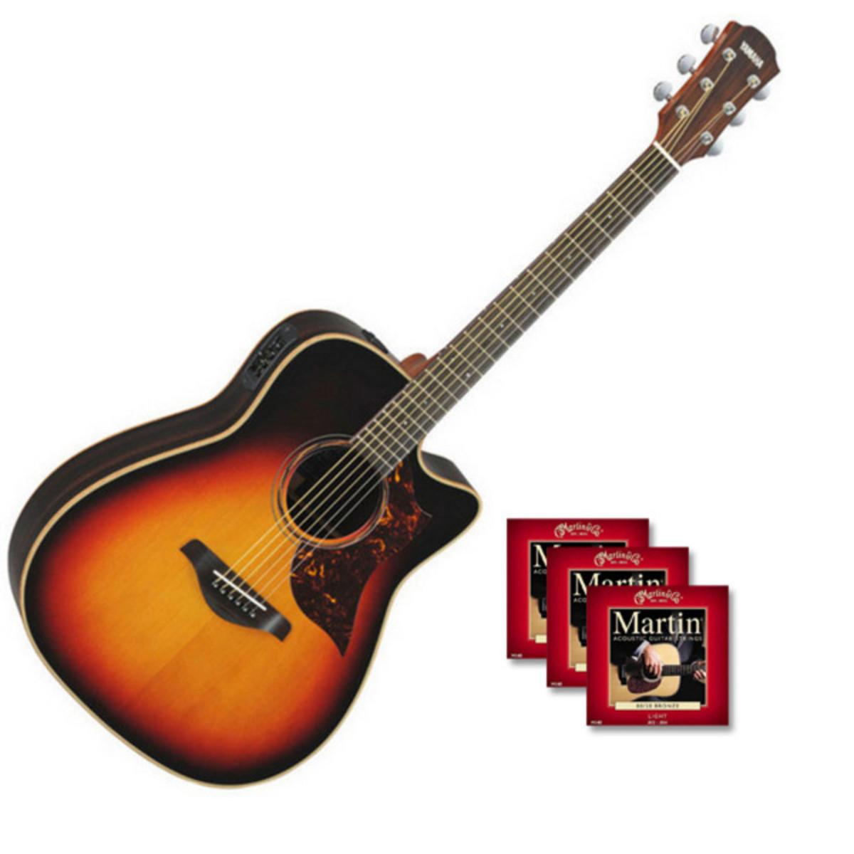 Yamaha A3R Electro Acoustic Guitar Vintage Sunburst Inc Hardcase Loading Zoom